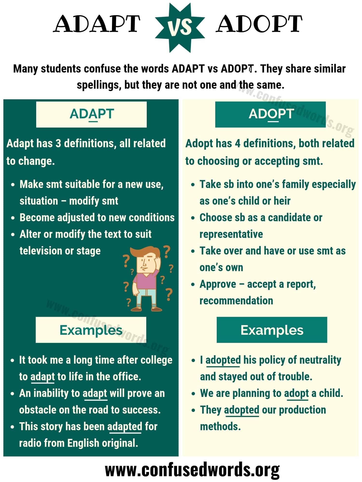 ADAPT vs ADOPT