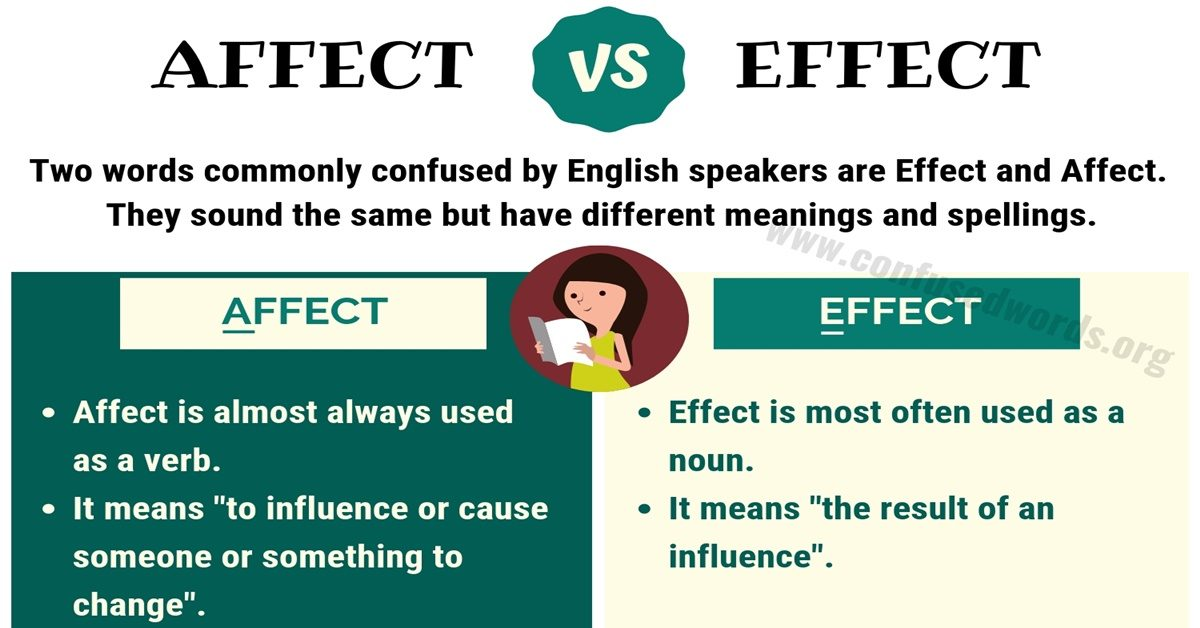 Affect Vs Effect How To Use Effect Vs Affect Correctly