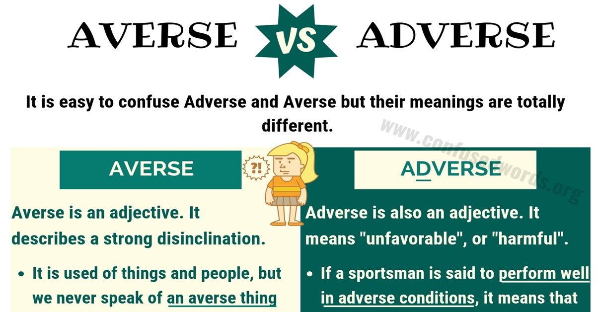 AVERSE vs ADVERSE