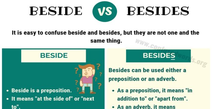 Beside or Besides - What is the Difference?