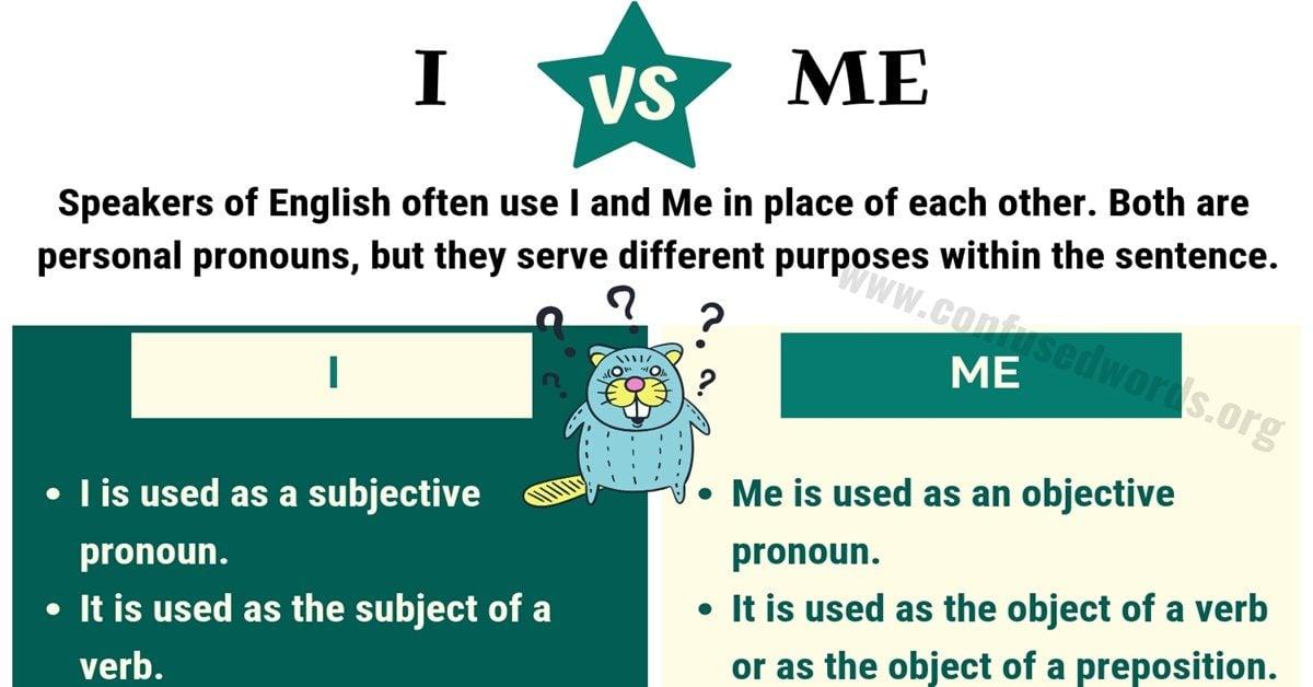 I vs ME