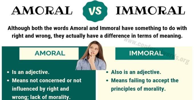 Amoral vs Immoral