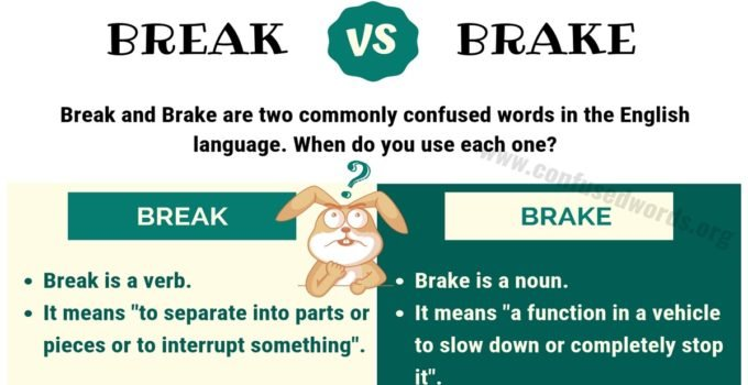 Break vs Brake