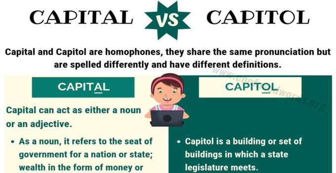 Capital vs Capitol