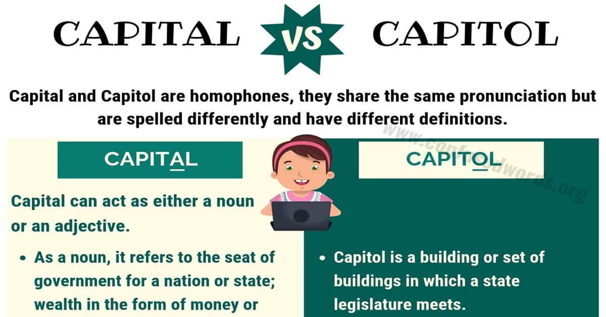 Capital vs Capitol
