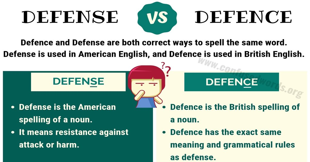 Defence vs Defense