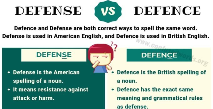DEFENCE vs DEFENSE: How to Use Defense vs Defence Correctly?