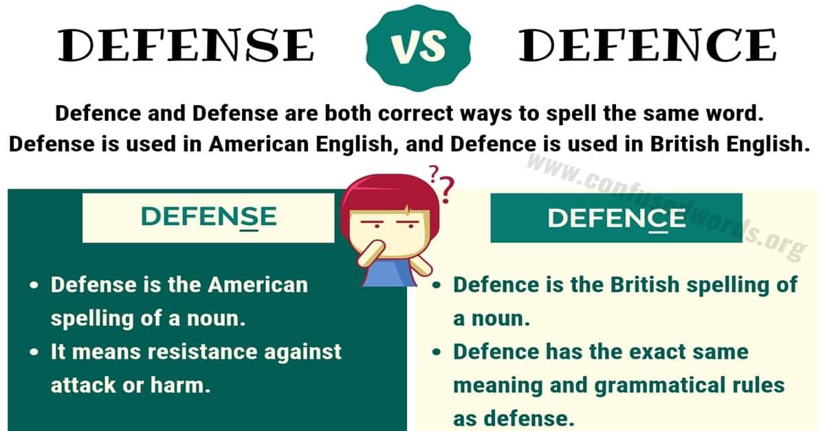 Defence vs Defense