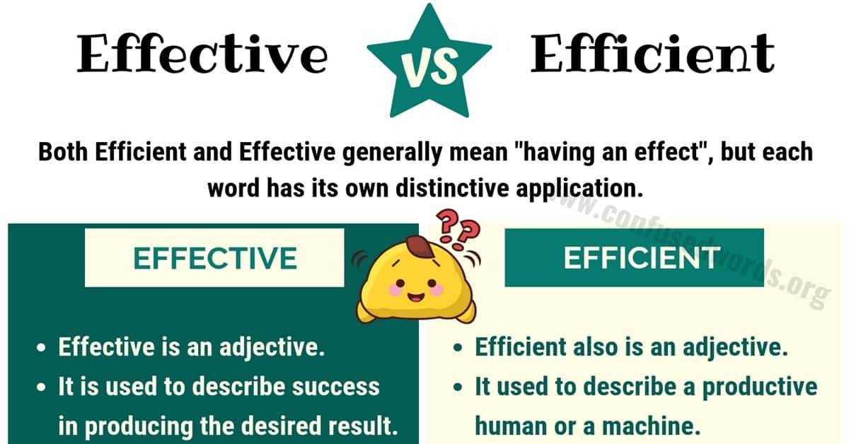 Effective vs Efficient