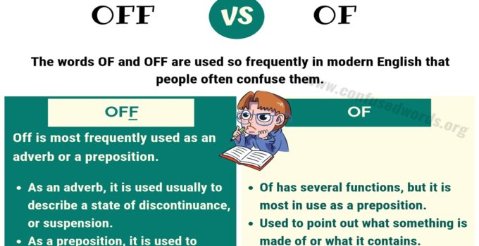 OFF OF: How to Use Of vs Off in English?