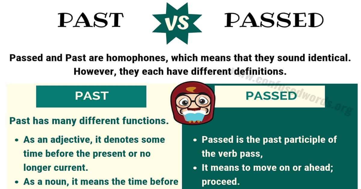 Past vs Passed