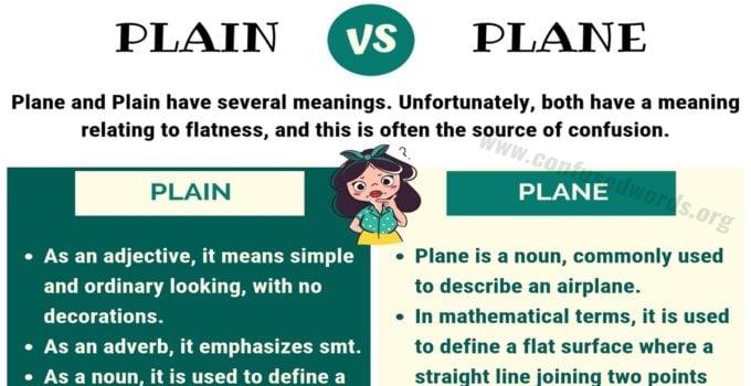 PLAIN vs PLANE: How to Use Plane vs Plain in English