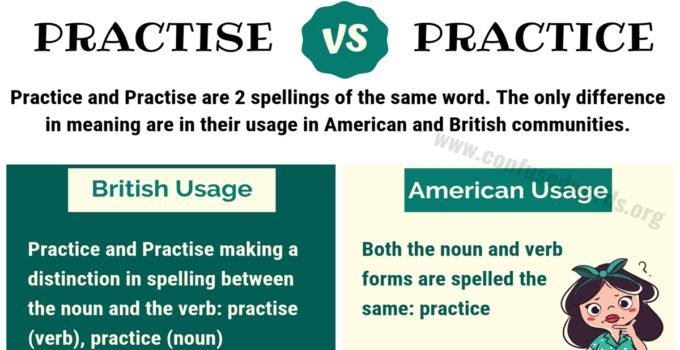 PRACTISE vs PRACTICE: How to Use Practice vs Practise in English