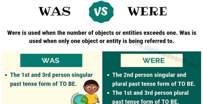 Was vs Were