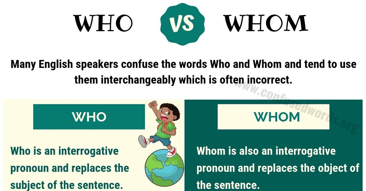 WHO vs WHOM: How to Use Who or Whom in English - Confused Words