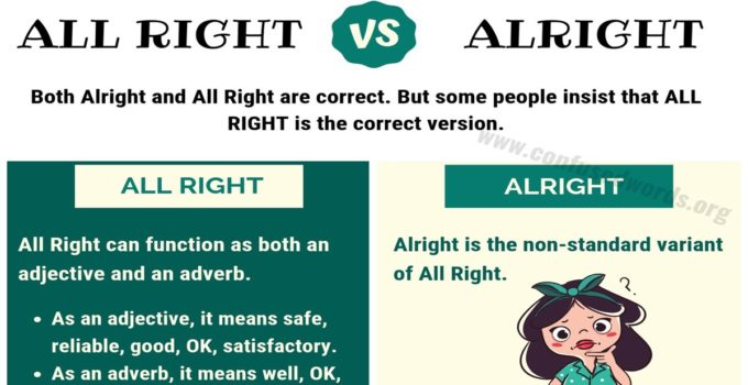 Alright vs All Right: How to Use All Right vs Alright Correctly?
