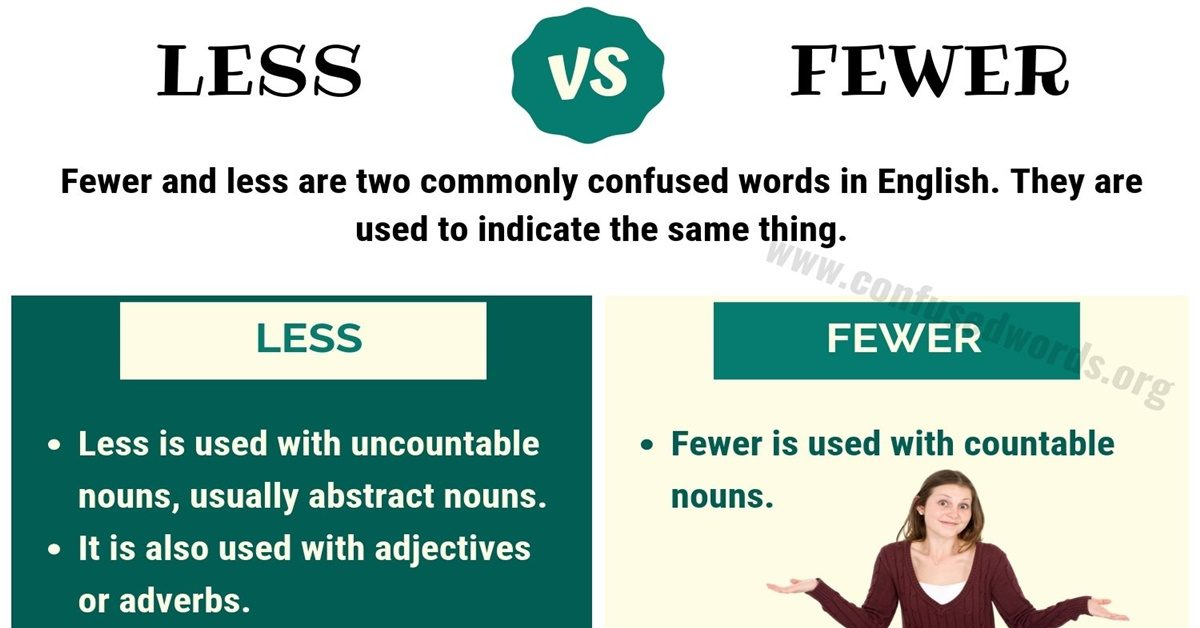 less vs fewer