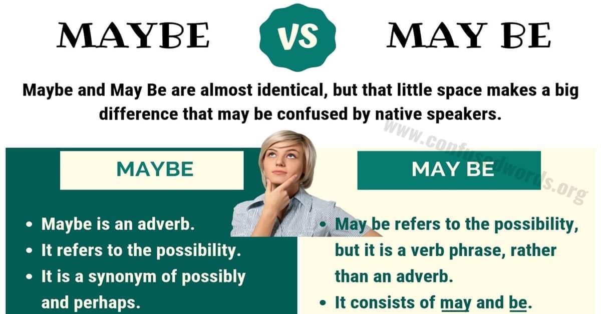 Maybe vs May Be