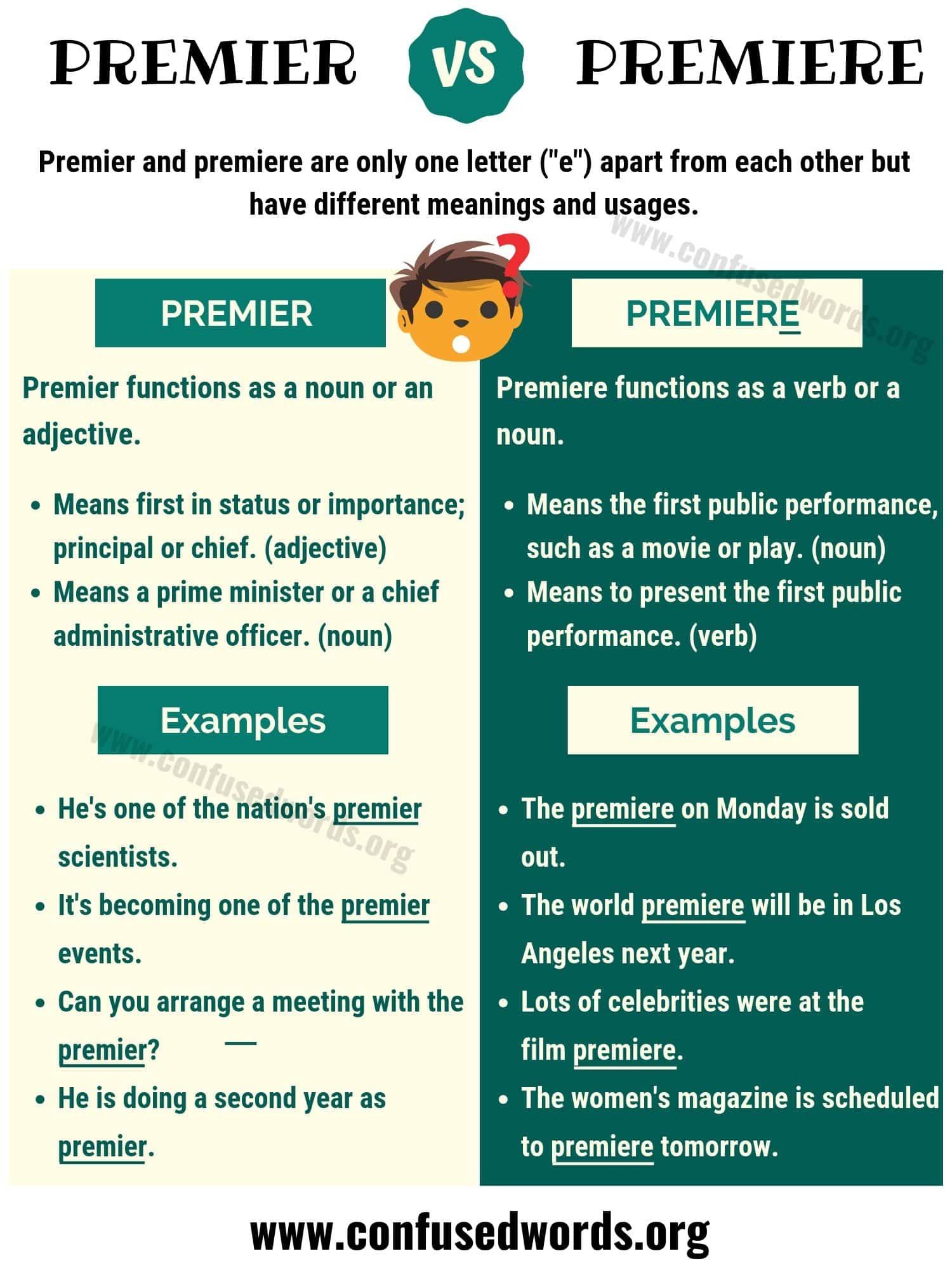 Premier vs Premiere