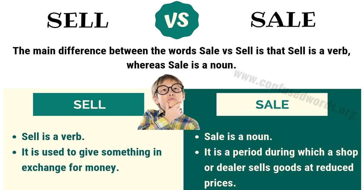 Sell vs Sale