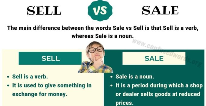 Sell vs Sale