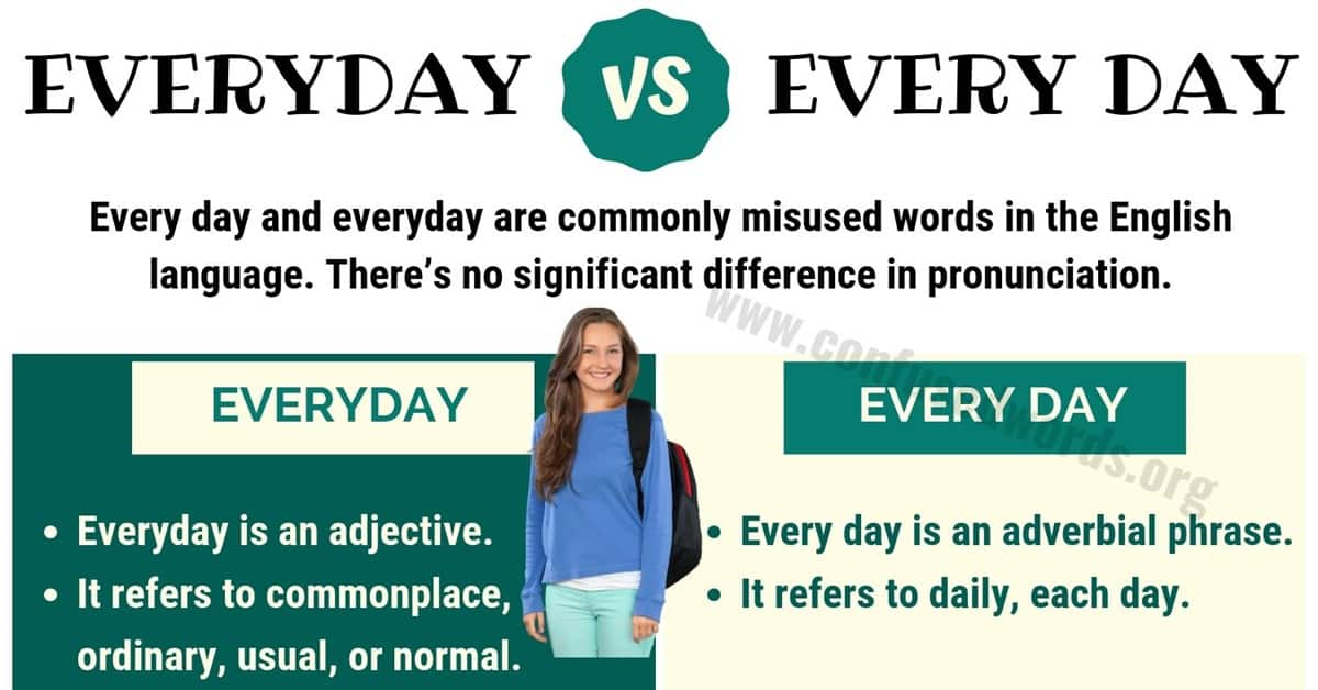 EVERYDAY vs EVERY DAY: How to Use Every Day vs Everyday ...