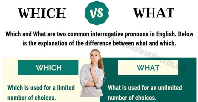Which vs What