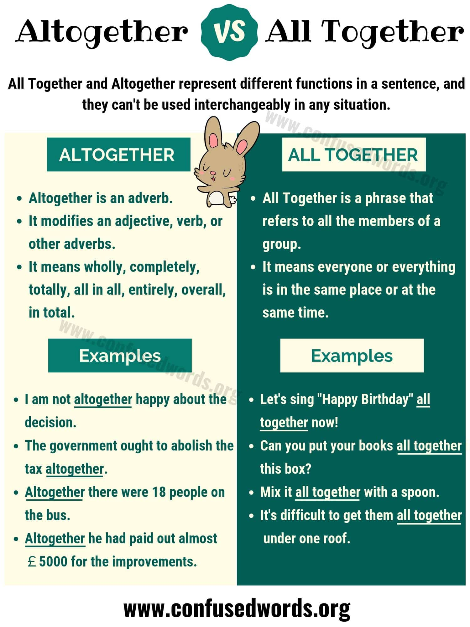 Altogether vs All Together