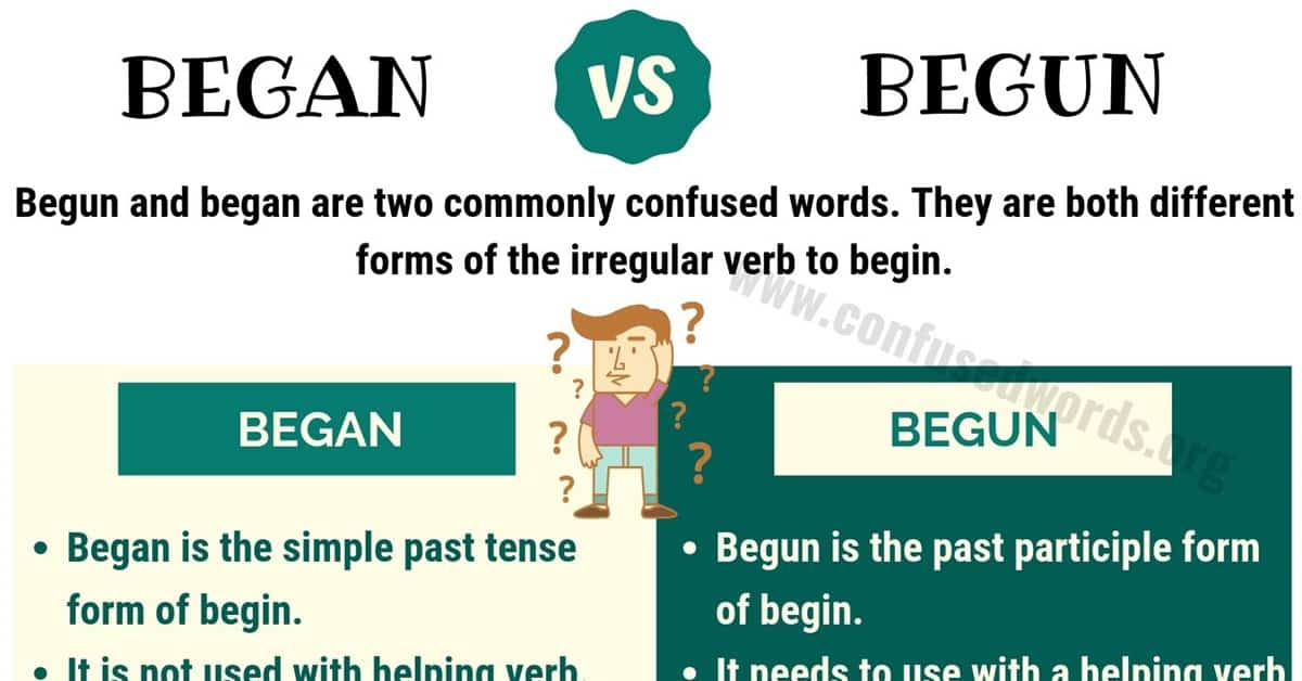 Began vs Begun