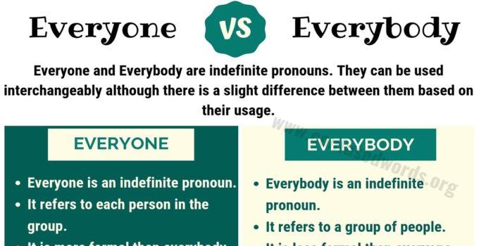 EVERYONE vs EVERYBODY: How to Use Everybody vs Everyone in Sentences?