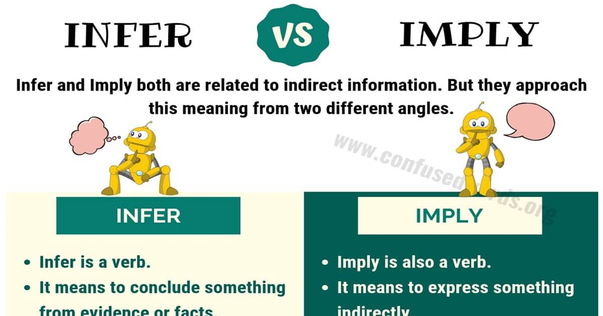 Infer vs Imply