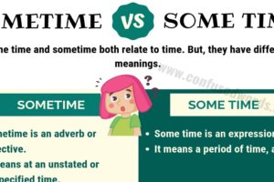 SOMETIME vs SOME TIME: How to Use Some Time or Sometime in English