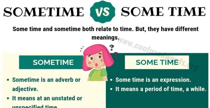 Sometime vs Some Time