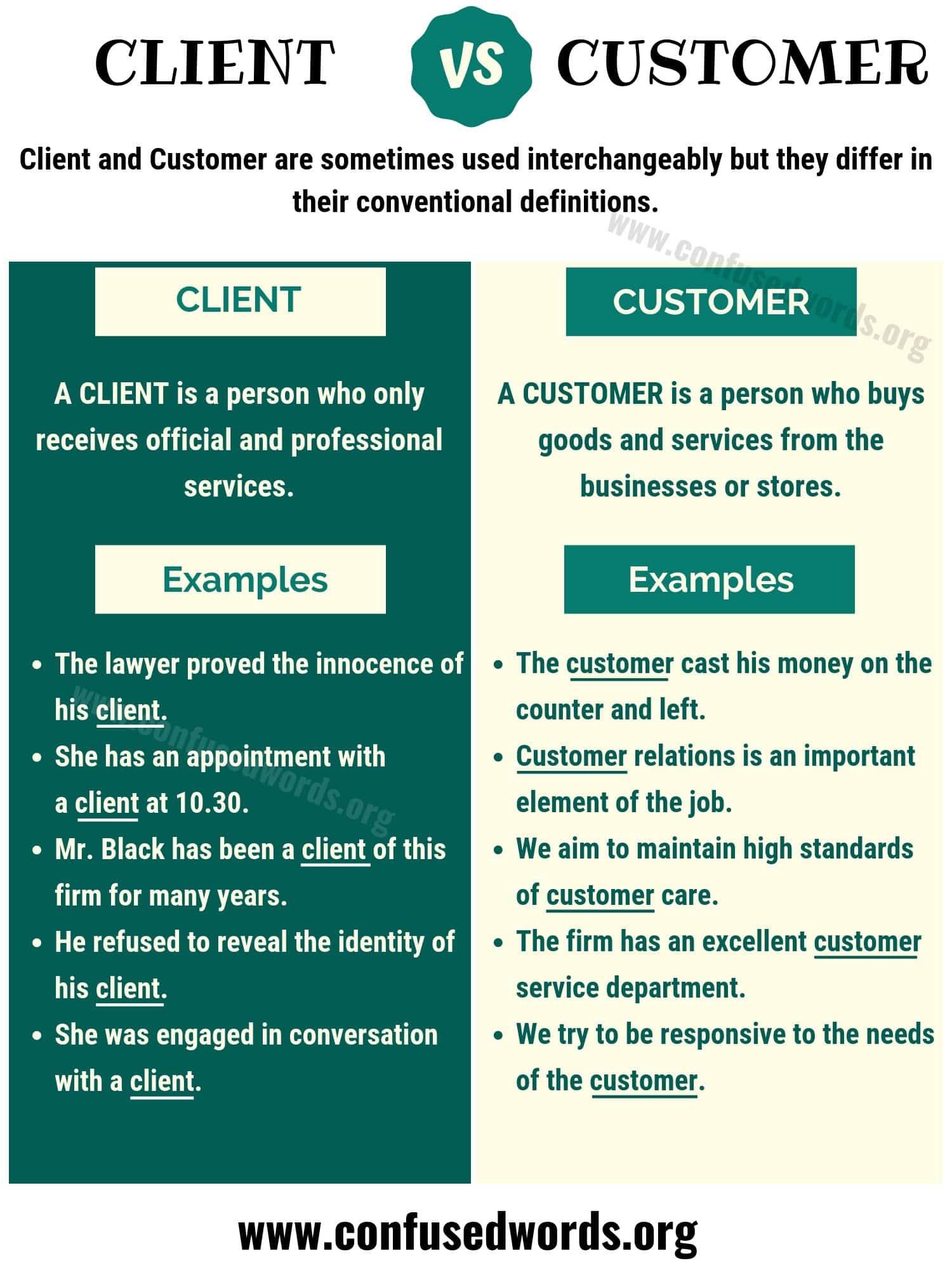 Client vs Customer