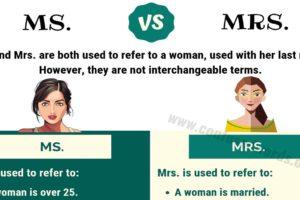 Ms vs Mrs