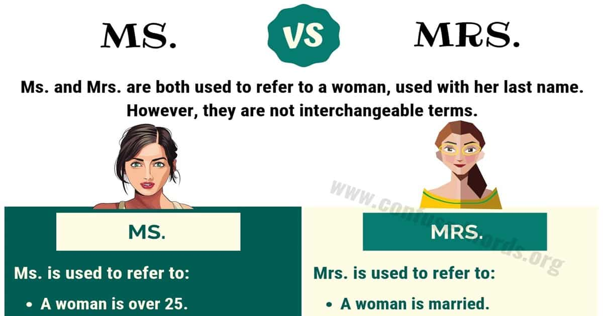Ms vs Mrs