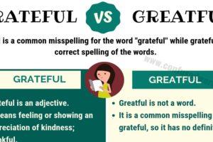 Greatful or Grateful