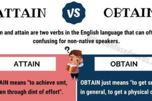Attain vs Obtain