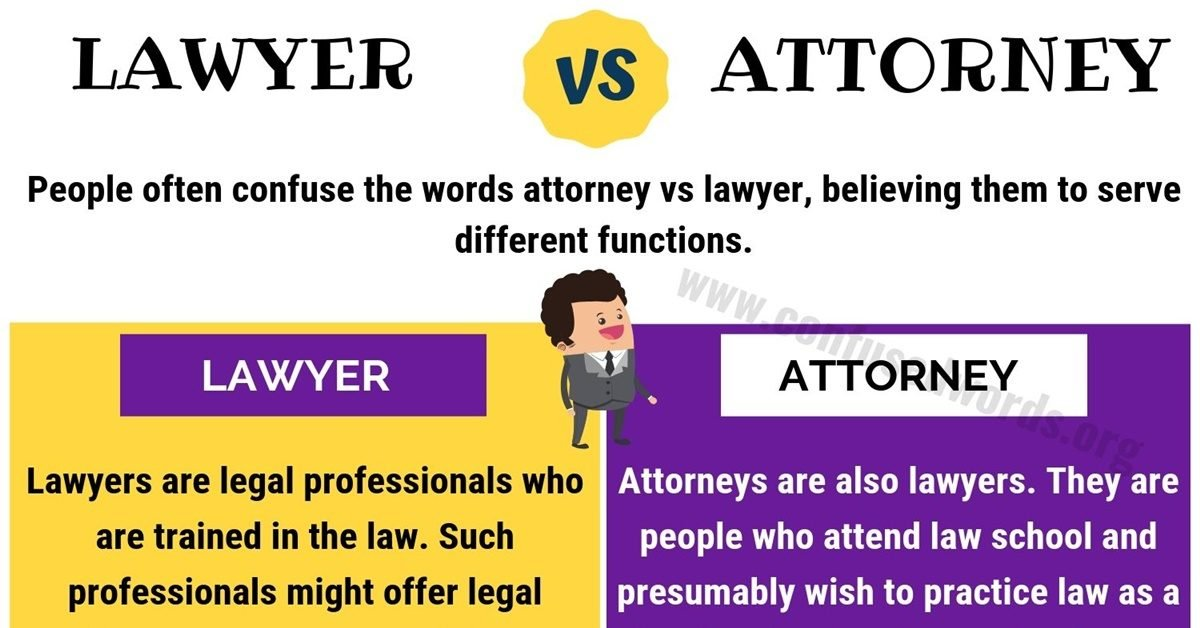 Attorney vs Lawyer