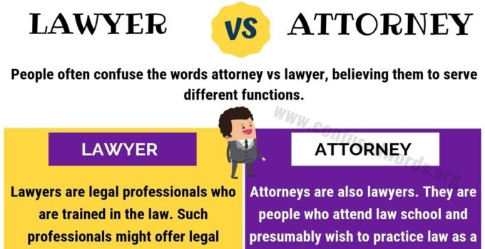 ATTORNEY vs LAWYER: How to Use Lawyer vs Attorney Correctly