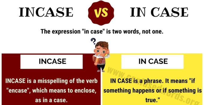 Incase or In Case