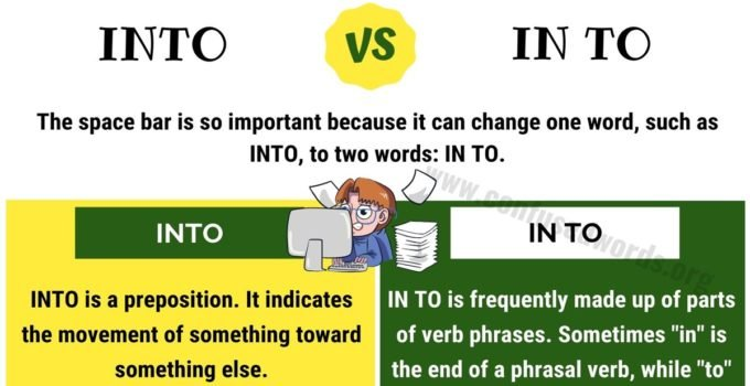 Into vs In to