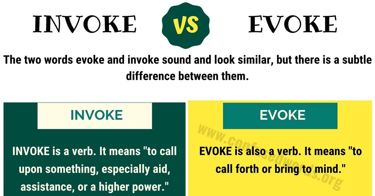 Invoke vs Evoke