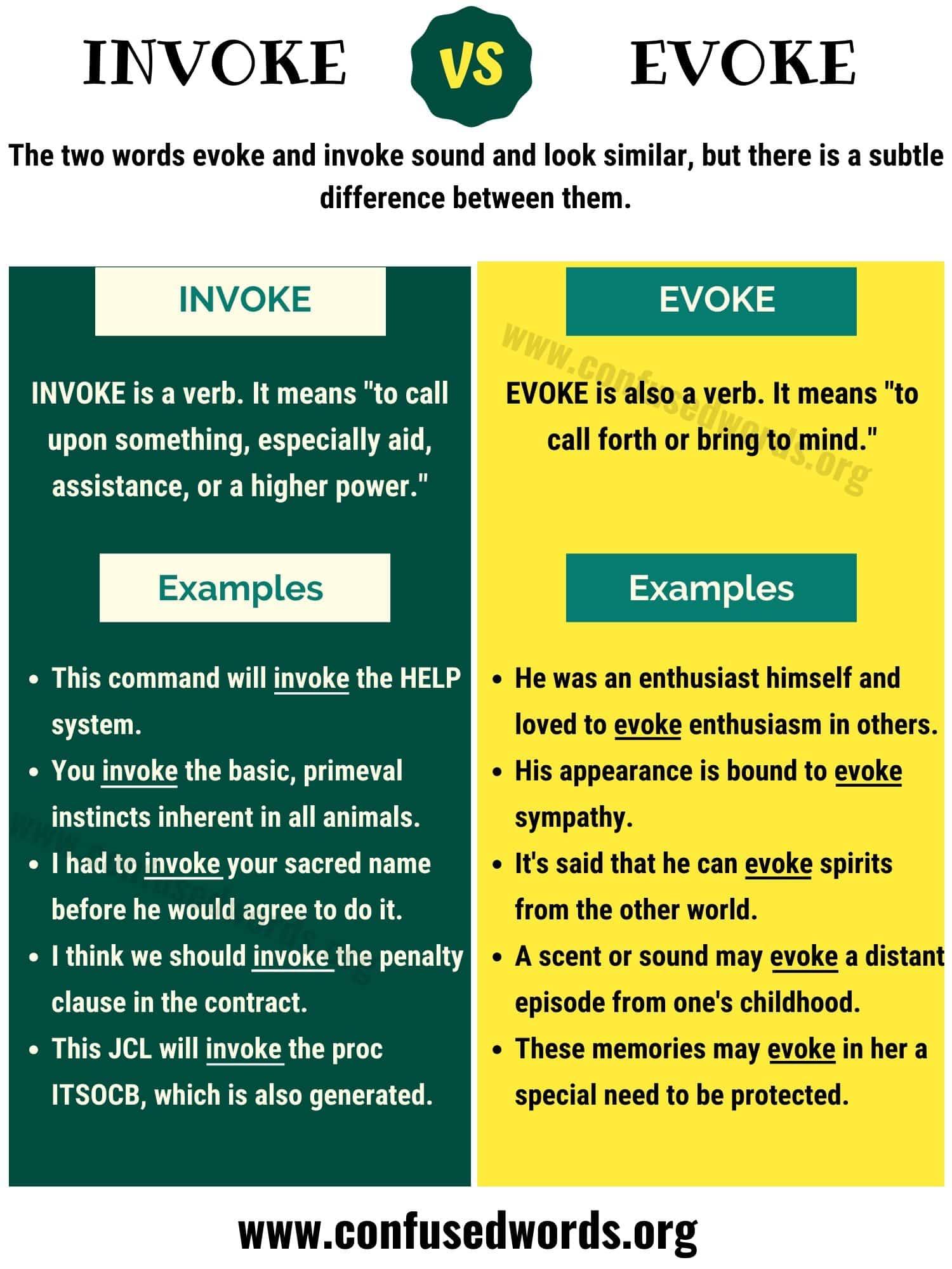 Invoke vs Evoke