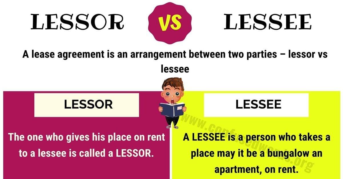Lessor vs Lessee