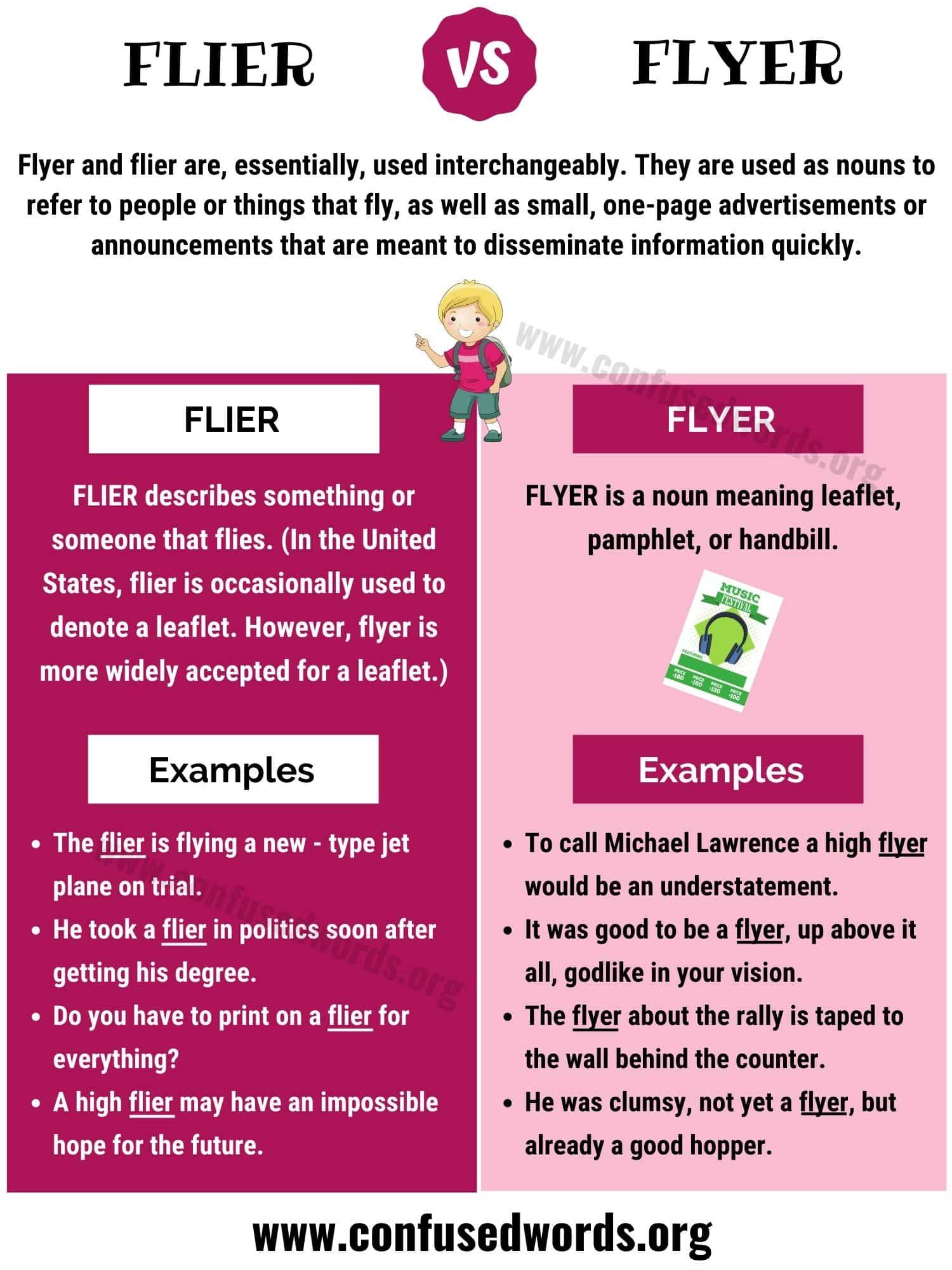 Flier vs Flyer