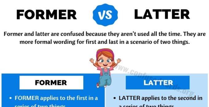 Former vs Latter