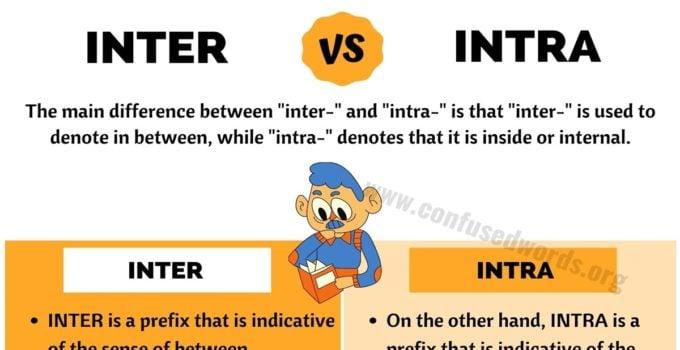 Inter vs Intra