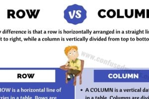 ROW vs COLUMN: Basic Difference between Column vs Row