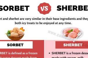 SORBET vs SHERBET: Basic Difference between Sherbet vs Sorbet
